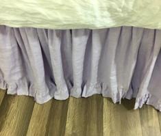 bed skirt queen Lavender purple