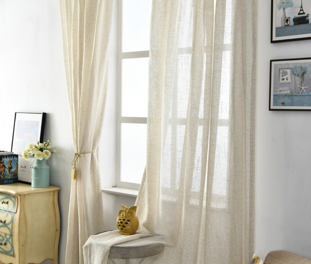 Natural Linen Sheer Curtains, Chic, Romantic!