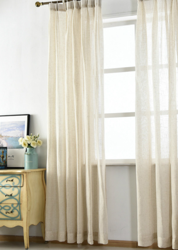 Natural Linen Sheer Curtains, Chic, Romantic! Image 2 ...