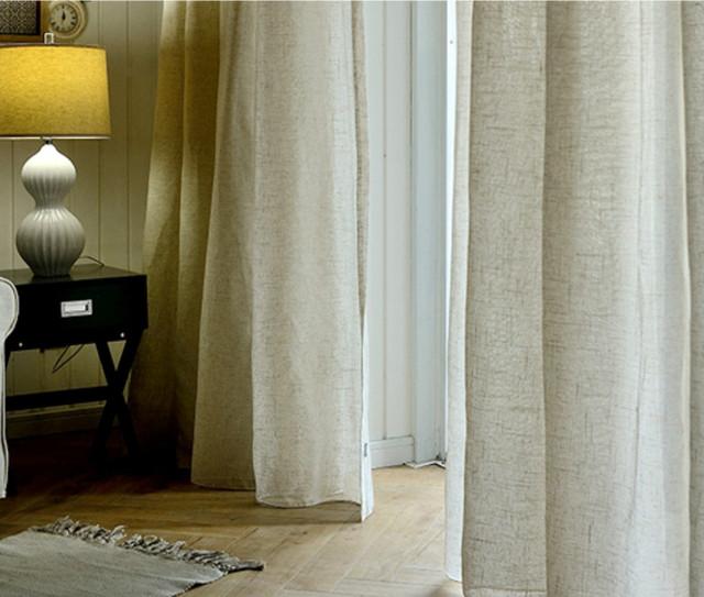 Linen Cotton Blend Curtains, 50% Block Rate