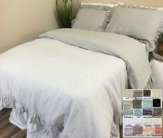 Linen Ruffle Duvet Cover – Reversible