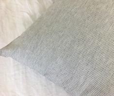 Subtle Black and White Ticking Stripe Euro Sham Cover