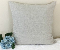 Natural Linen Euro Sham Cover, made in Medium Weight Linen – Simple and Versatile