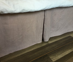 Orchid Linen Bed Skirt with Tailored Pleats