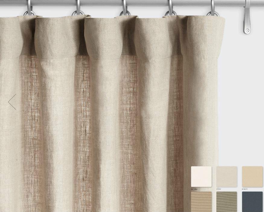 Belgian Linen Curtains White Grey Cream Slate Custom