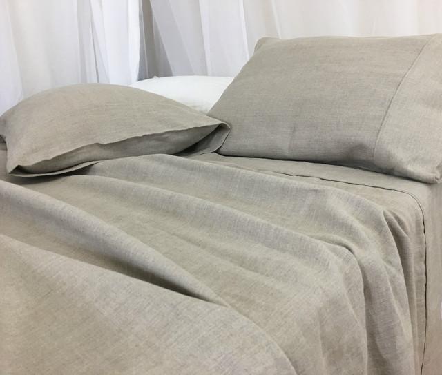 Dark Linen Sheets Set - Medium Weight Linen