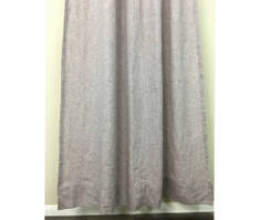 Chambray Rustic Raspberry Shower Curtains, natural linen