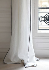 Linen Curtains with Trim