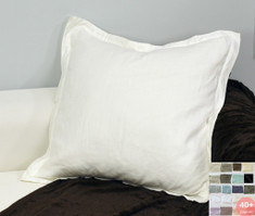 Linen Euro Sham Cover with Flange - 40+ Fabric Choices