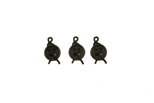 3 Button Metal Zip-Pulls FK51-AG