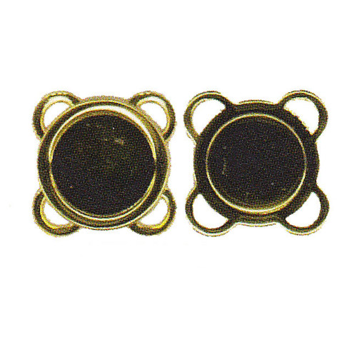 4 Sew-On Magnetic Closures Antique Gold