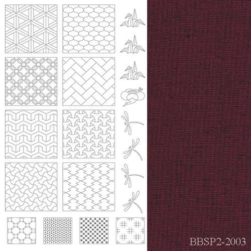 BeBe Bold Sashiko Panel 2 Red