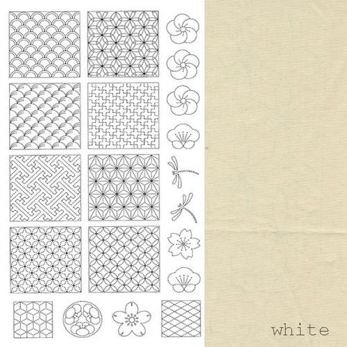 BeBe Bold Sashiko Panel 1 Off-White