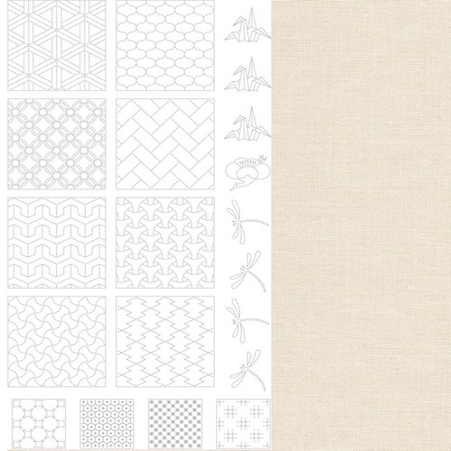 BeBe Bold Sashiko Panel 2 Off-White