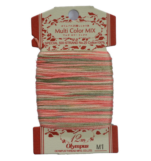 Multi-Coloured Embroidery Thread 12mt ET-M1