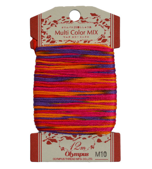 Multi-Coloured Embroidery Thread 12mt ET-M10