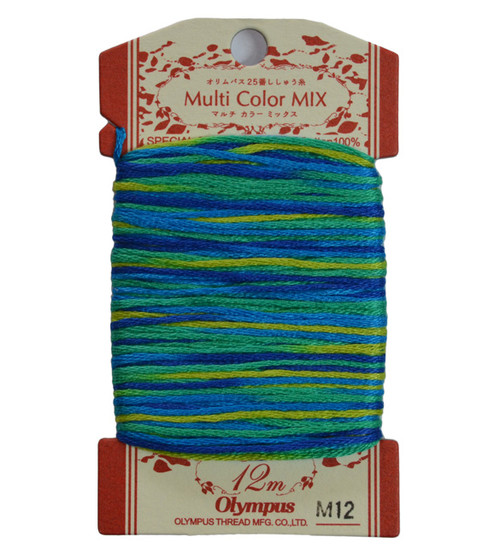 Multi-Coloured Embroidery Thread 12mt ET-M12
