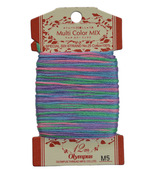 Multi-Coloured Embroidery Thread 12mt ET-M5