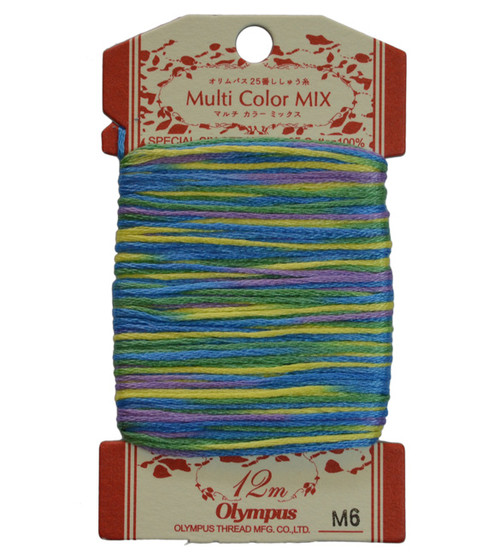 Multi-Coloured Embroidery Thread 12mt ET-M6