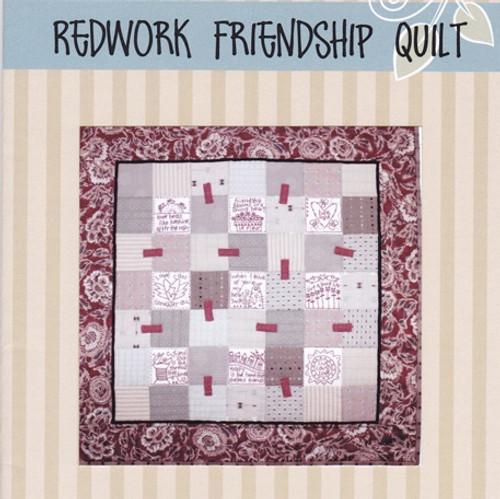 Redworked Friendship Quilt Pattern