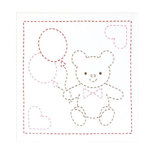 Sashiko Sampler Teddy Bear