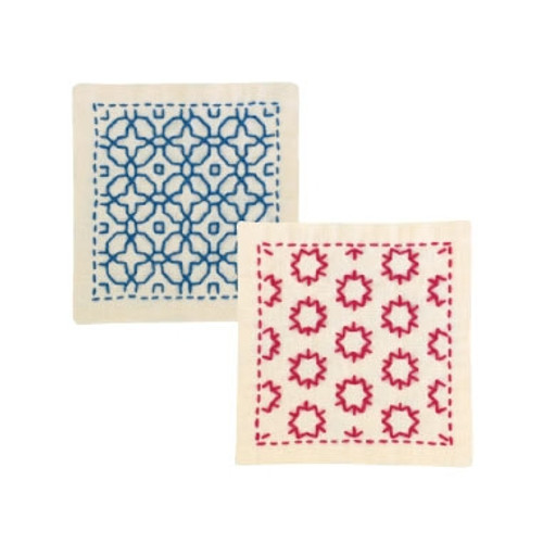Sashiko Coaster Kit - Morning Glory & Star Candy