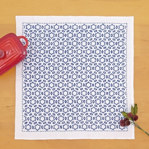 Sashiko Sampler Kit - Stars & Three Diamonds