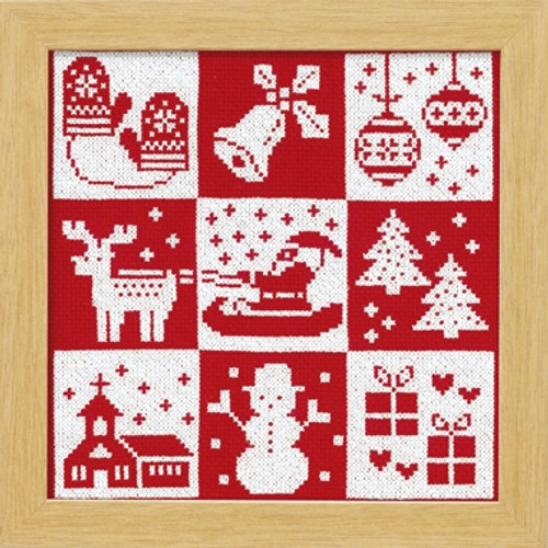Festive Christmas Cross-stitch