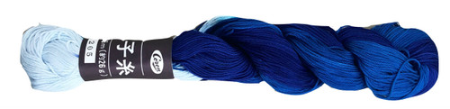 Coron Sashiko Thread Blue Swirl