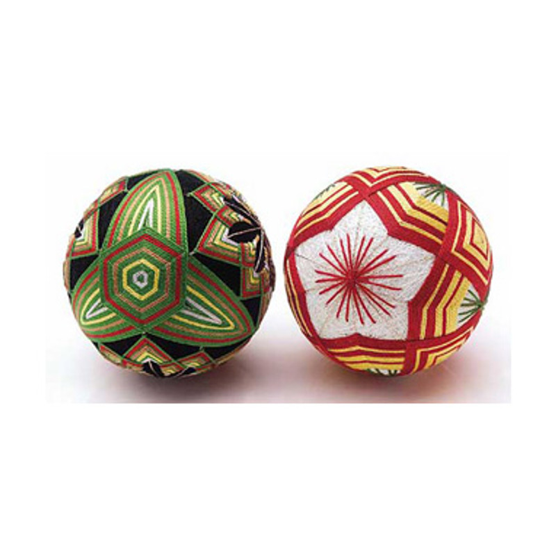 2 Temari Balls with English Instructions TM-4