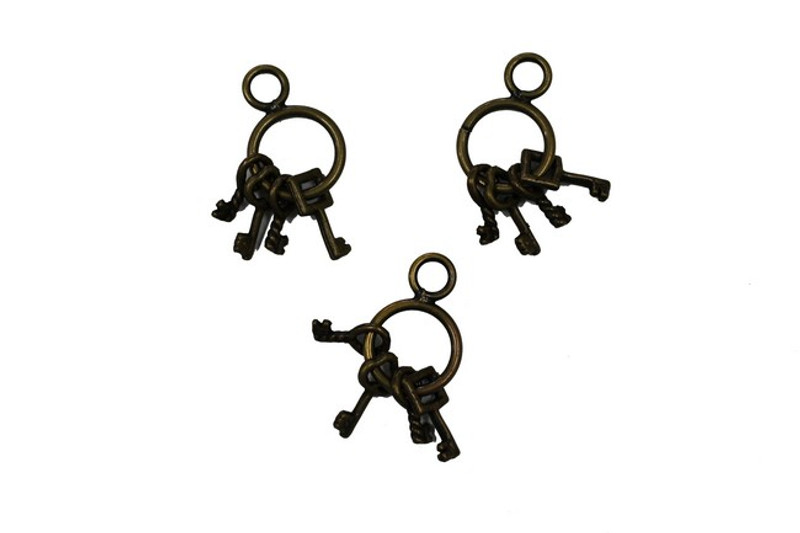 3 sets key Metal Zip-Pulls FK38-AG