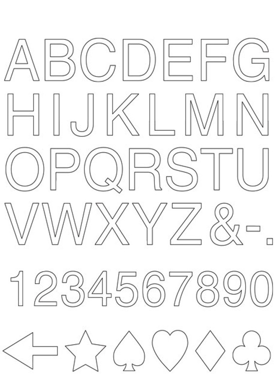 Free Alphabet Template Download