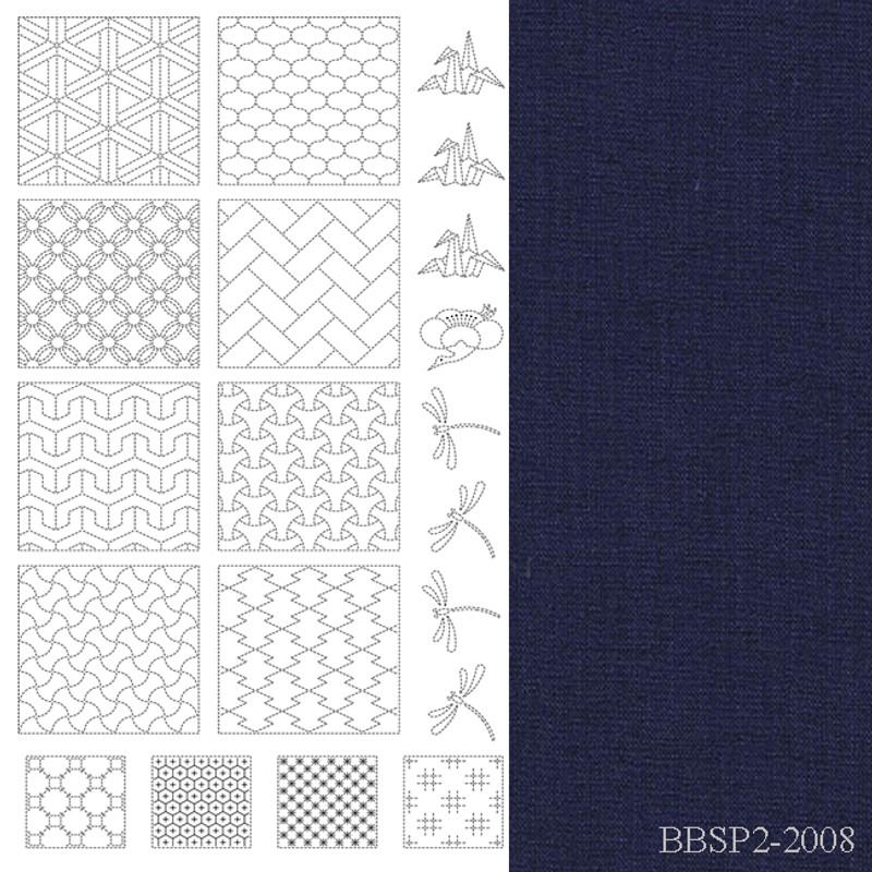 BeBe Bold Sashiko Panel 2 Navy