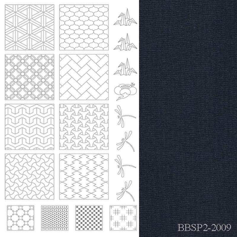 BeBeBold Sashiko Panel 2 Black