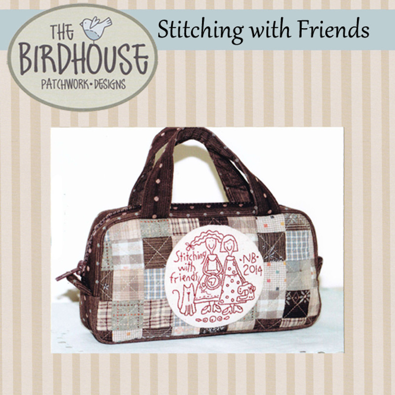 Stitching with Friends Zip Case