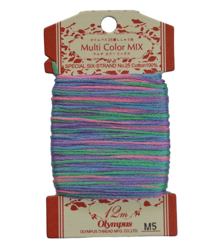 Multi-Coloured Embroidery Thread 12mt ET-M5