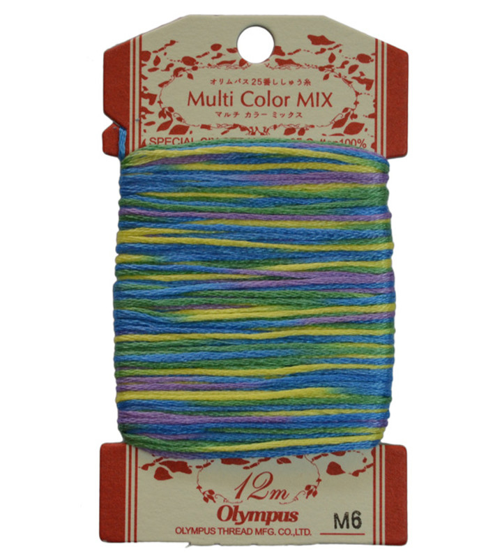 Multi-Coloured Embroidery Thread 12mt ET-M6