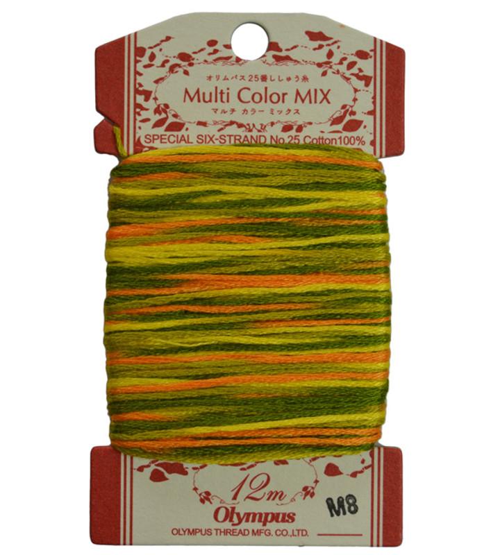 Multi-Coloured Embroidery Thread 12mt ET-M8