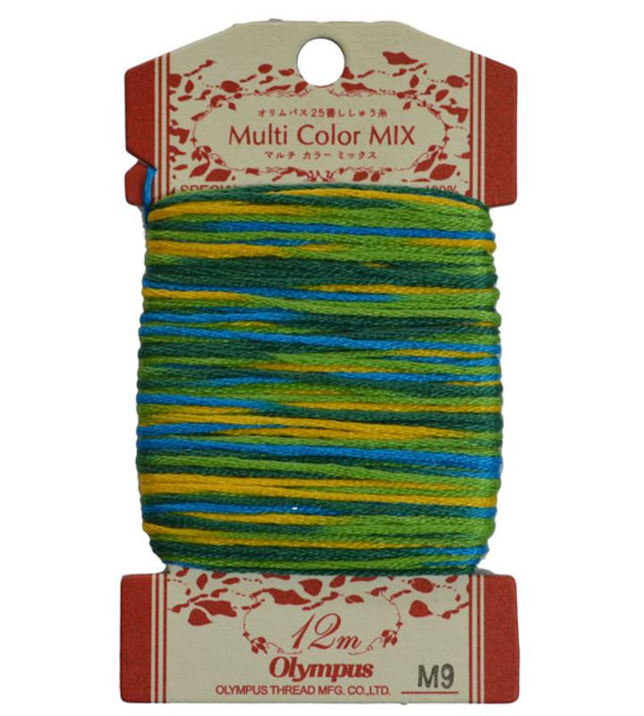 Multi-Coloured Embroidery Thread 12mt ET-M9