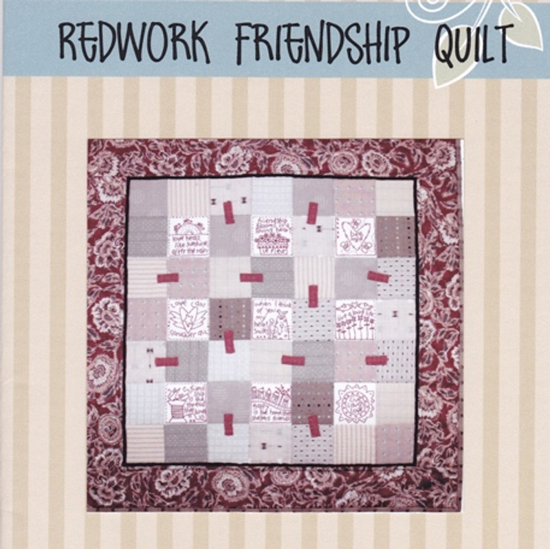 Redworked Friendship Quilt Pattern