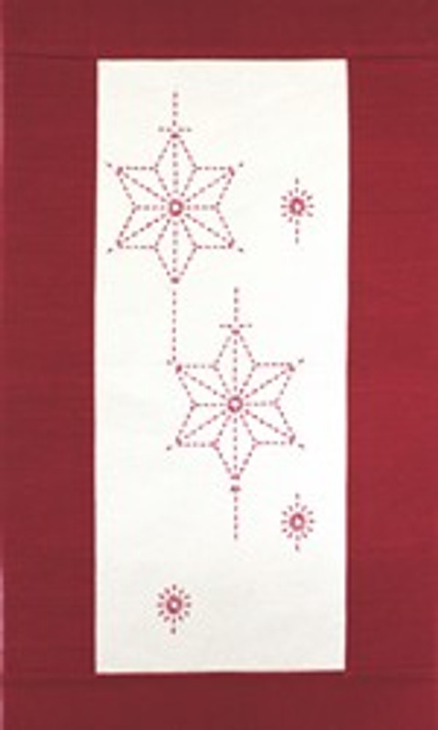 Sashiko Christmas Star Wall Hanging Kit