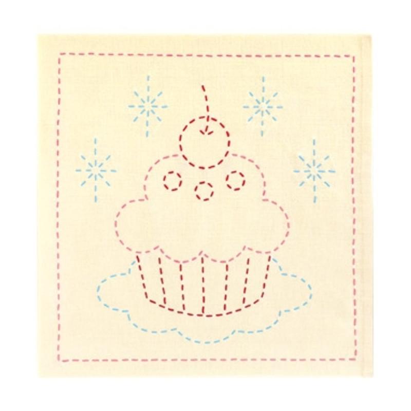 Sashiko Sampler Cupcake
