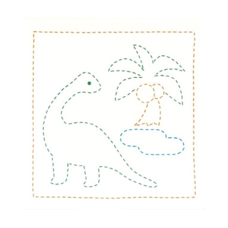 Sashiko Sampler Dinosaur