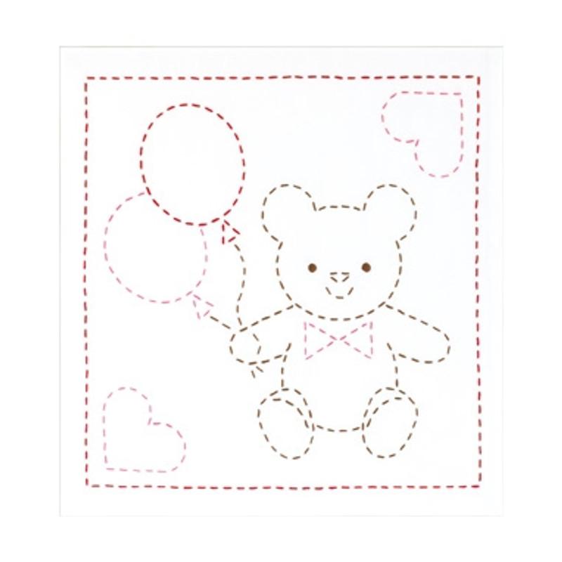 Sashiko Sampler Teddy Bear