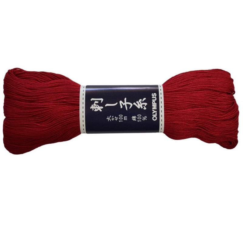 Sashiko Thread 100mt Red ST-104
