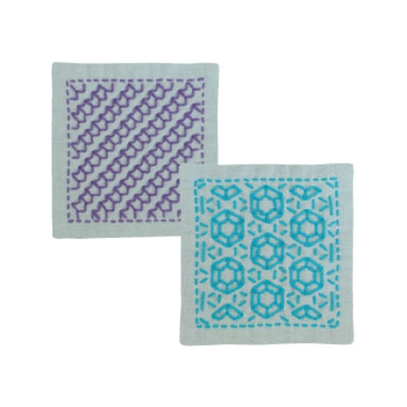 Sashiko Coaster Kit 299 - Arrow Feather & Diamonds