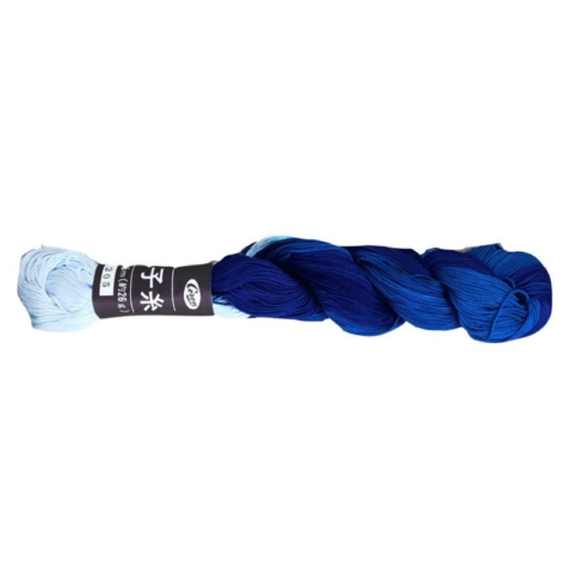 Coron Sashiko Thread Blue Swirl