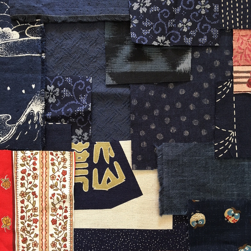 Boro Inspired Fabric Pack Blue