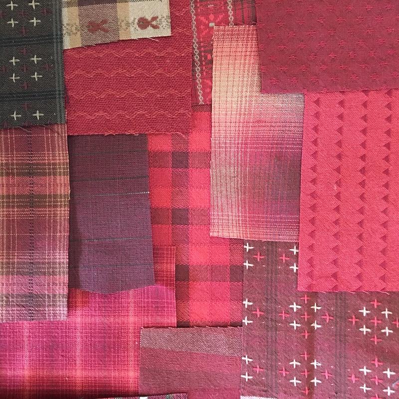 Boro Inspired Fabric Pack Red