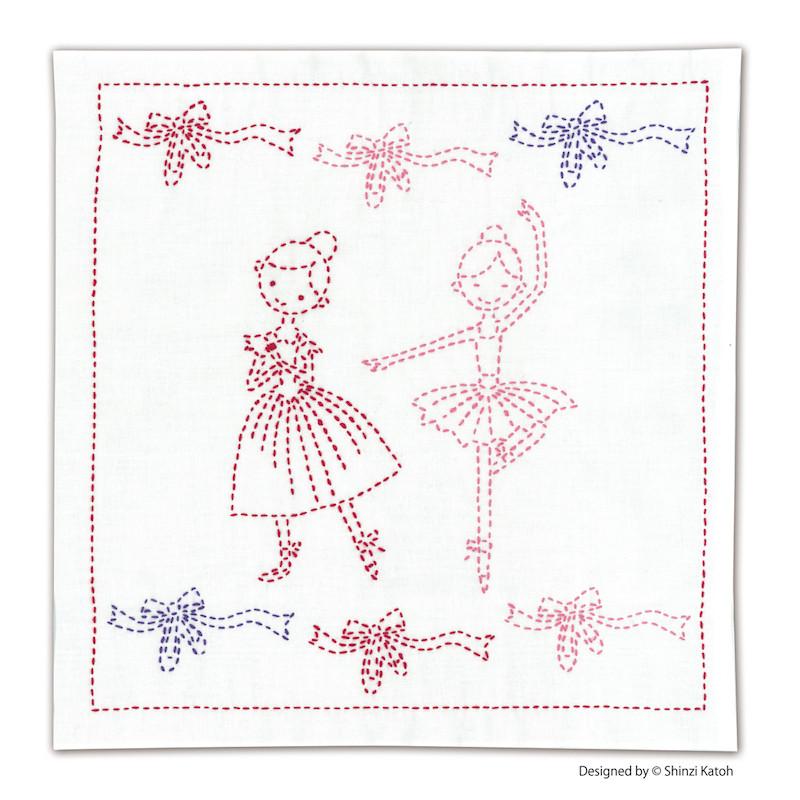 Shinzi Katoh Ballerina Lesson Sashiko Sampler Kit